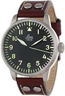 Laco / 1925 Mens 861688 Laco 1925 Pilot Classic Stainless Steel Automatic Watch with Brown Leather