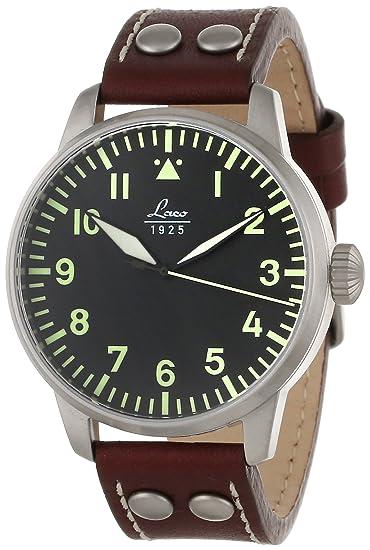 Laco 1925 861688 - Reloj para hombres, correa de cuero color azul: Amazon.es: Relojes