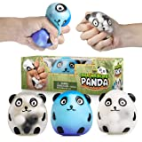 YoYa Toys DNA Wildlife Panda Stress Ball [3-Pack] | Stimulating & Calming Sensory Squishy Balls for Kids & Adults | Squishies for Autism, Fidgeting, ADHD & Quitting Bad Habits | Durable & Non-Toxic