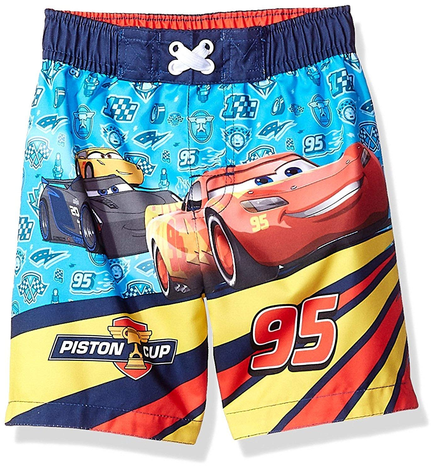 Disney Toddler Boys' Cars Character Swim Trunk (Sky Blue, 24 Months)