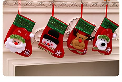 amazon com small christmas stockings a set of 4 pattern sequins