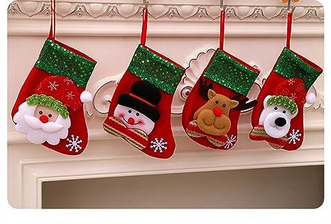 Dream Loom Pequeña Medias de Navidad, Un Conjunto de 4 Patrón de Lentejuelas Decorativas Navidad