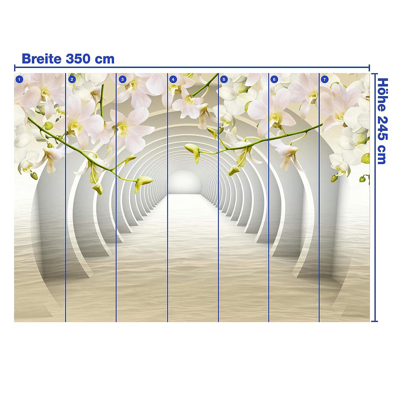 Wandmotiv24 Fototapete Tunnel Rosa Blaumen Blaumen Blaumen wasser 3D Effekt M3935 L 300 x 210 cm - 6 Teile Wandbild - Motivtapete B07NF142HG Wandtattoos & Wandbilder 80266d