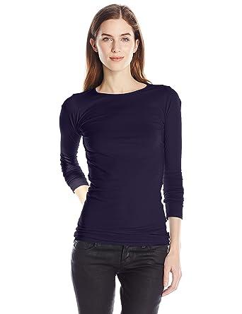 1003879f15d LAmade Women's Crew Neck Tunic Tee at Amazon Women's Clothing store: