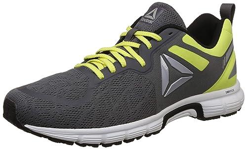 9158220ee9e4 Reebok Men s Distance Ride Grey High Vis Green Black Running Shoes-10 UK