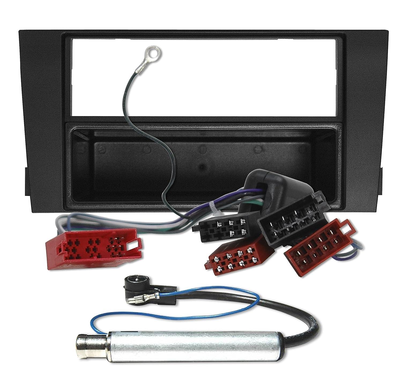 AUDI A6 C5 4B Komplettset Radioblende BLENDE RAHMEN Adapter Kabel ...