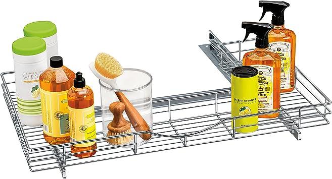 Plastic U Shape Sink Drawer Kitchen Bath Furniture Cabinet Recessed U Under Sink