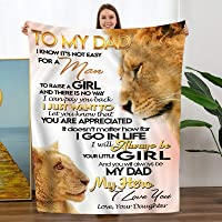 TURMTF Personalized Flannel Blanket to Dad Gift from Daughter-Christmas Birthday Father's Day Presents Throw Bed Blanket…