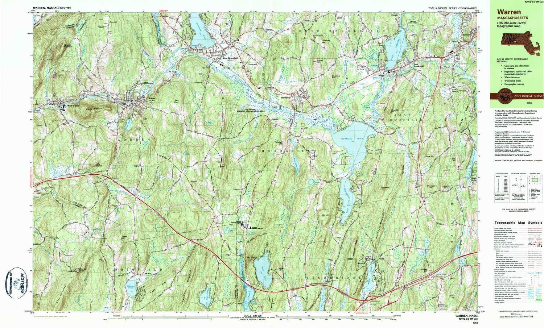 Topographic Map Massachusetts.Amazon Com Yellowmaps Warren Ma Topo Map 1 25000 Scale 7 5 X 15