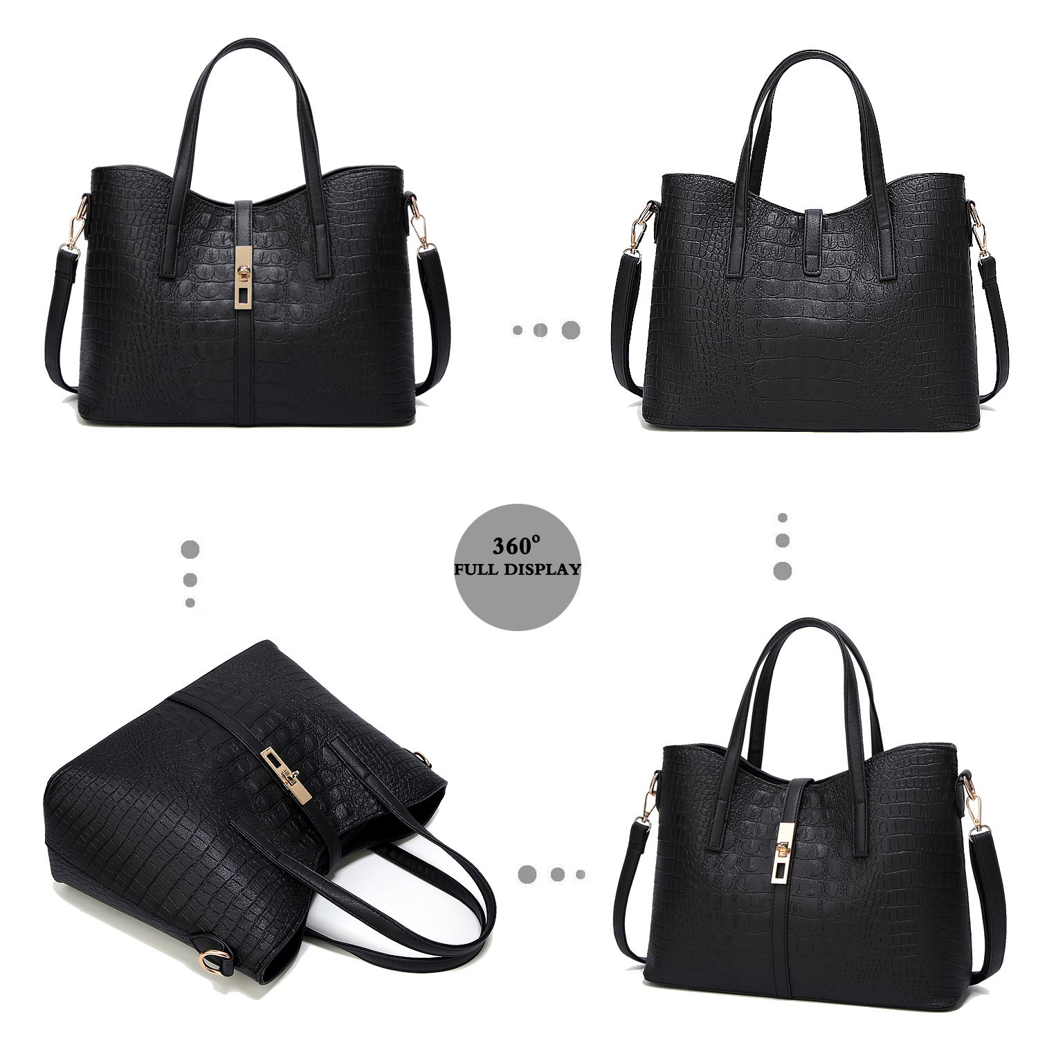 YNIQUE Satchel Purses and Handbags for Women Shoulder Tote Bags Wallets by YNIQUE (Image #5)