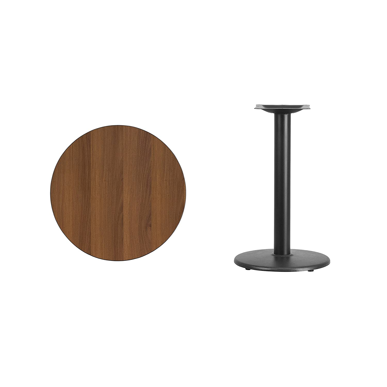 Amazon Com 24 Round Black Laminate Table Top With 18 Round