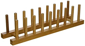Lipper International 887 Bamboo Wood Plate Rack and Pot Lid Holder 15-1/  sc 1 st  Amazon.com & Amazon.com: Lipper International 887 Bamboo Wood Plate Rack and ...