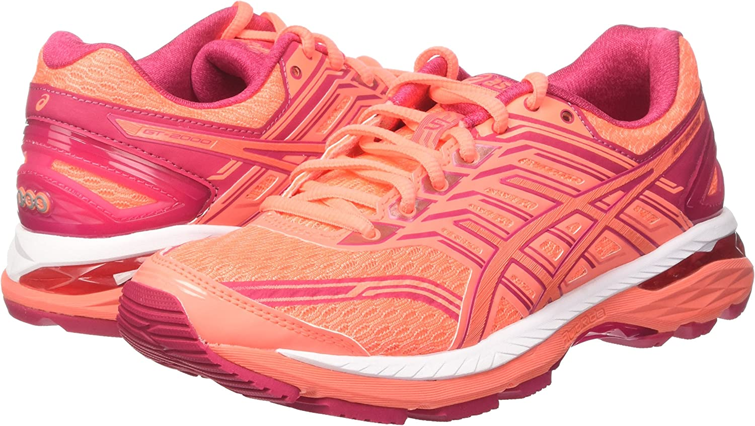 Asics GT 2000-5, Zapatillas de Running para Mujer, Naranja (Flash Coral/Coral Pink/Bright Rose), 37 EU: Amazon.es: Zapatos y complementos