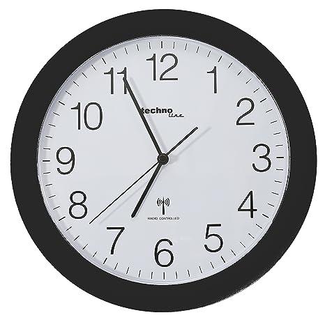 Technoline Wt 8000 - Reloj de Pared Radiocontrolado, color negro
