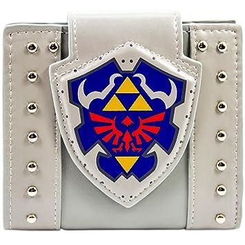 Cartera de Legend of Zelda Escudo Hylian Clavos Gris: Amazon.es: Equipaje