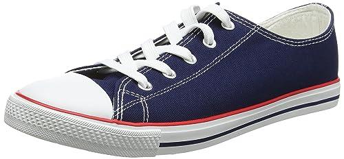 New Look Mark 2, Zapatillas Bajas para Mujer, Azul (Navy), 42 EU: Amazon.es: Zapatos y complementos