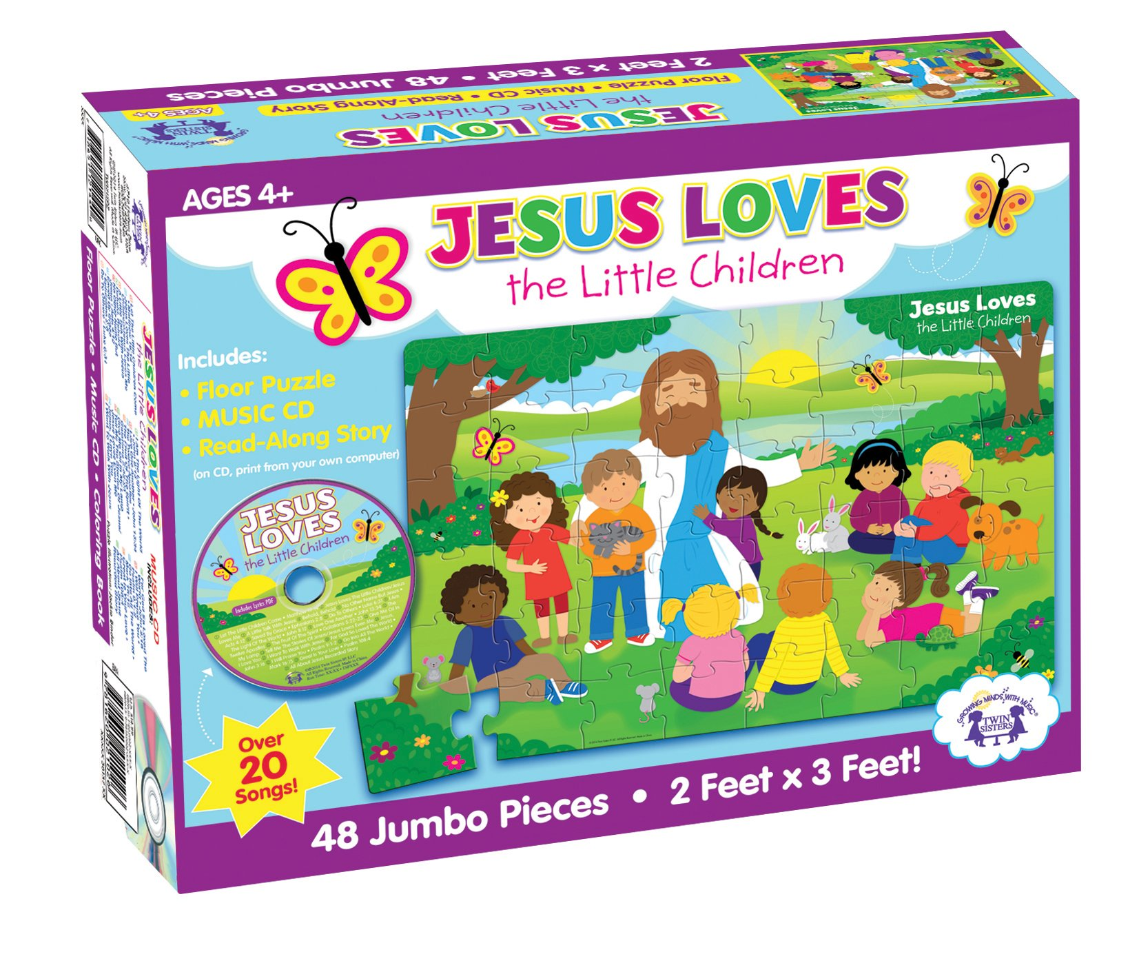 Jesus Loves the Little Children Floor Puzzle (I\'m Learning the Bible ...