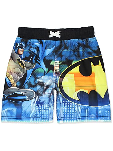 0cfe8d31db Amazon.com: DC Comics Batman Boys Swim Trunks Swimwear (7, Blue ...