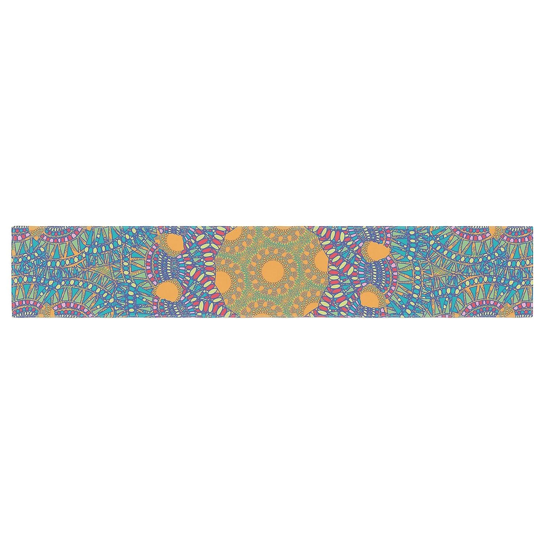 16 x 180 KESS InHouse Miranda Mol Prismatic Orange Orange Blue Abstract Table Runner