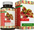 Forskolin Weight Loss Supplement for Men and Women – Burns Body Fat and Boosts Metabolism – Natural Pure Coleus Forskohlii Extract – Standardized 20% Forskolin – 60 Capsules by California Products