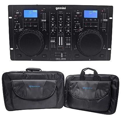 Amazon com: Gemini CDM-4000 2 Ch  Dual DJ Mixer Media Player