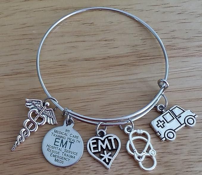 Amazon.com: EMT pulsera, EMT estetoscopio de joyería pulsera ...