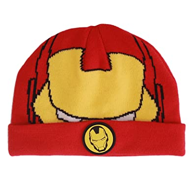 Official Licensed Marvel Avengers Iron Man Red Winter Beanie Hat Age 3-6  Years  Amazon.co.uk  Clothing 77d29513865