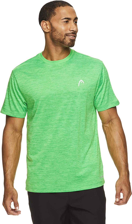 HEAD Men's Ultra Hypertek Crewneck Gym Training & Workout T-Shirt - Short Sleeve Activewear Top: Clothing