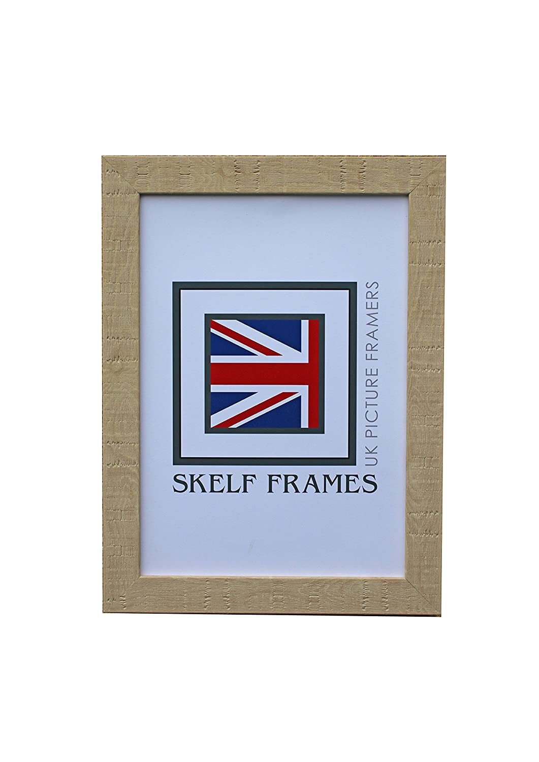 ORANGE BOX NATURAL WOOD EFFECT PICTURE PHOTO POSTER FRAME WITH GLASS 5x3.5