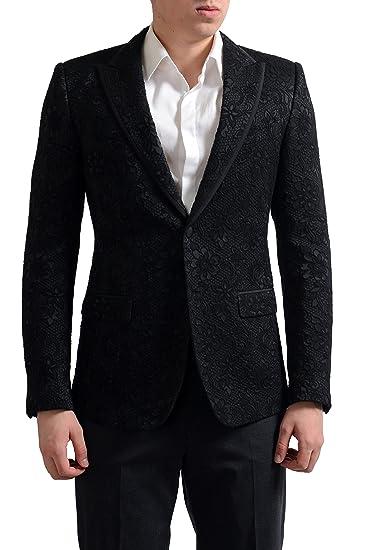 8427106c1fed4d Image Unavailable. Image not available for. Color  Dolce   Gabbana Tailored Men s  Black Floral Print Sport Coat Blazer ...
