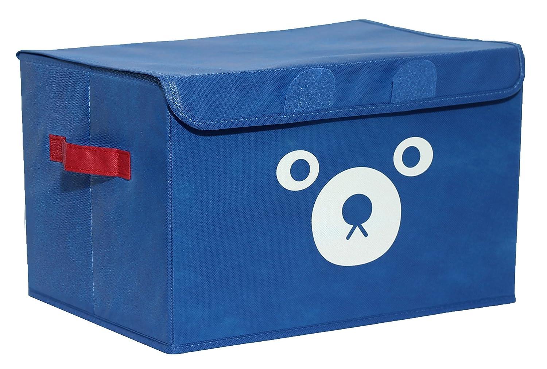 Katabird Storage Bin for Toy Storage box petto giocattoli organizzatore con coperchio pieghevole, per sala giochi per bambini, vestiti del bambino, bambini libri, peluche, regalo cestini Blue