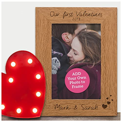 Our First Valentines PERSONALISED Engraved Photo Frame Gifts ...