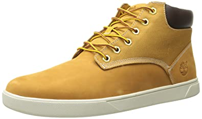 Timberland Men's Groveton Plain Toe Chukka , Wheat Nubuck/Canvas, ...