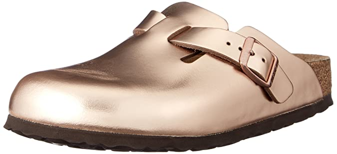 BIRKENSTOCK Damen Boston Pantoletten Rot Various