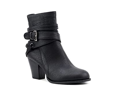 Newtown' Multi Strap Buckle Ankle Booties