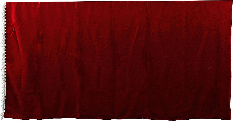 Juego de 5 cortinas de sat/én con borlas blancas 2 ventanas laterales coj/ín visera frontal AutoCommerse cortina de t/únel universal para camiones HGV cami/ón Bordeaux