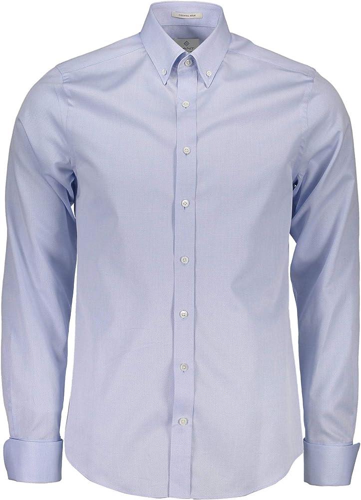 Gant 1603.385065 Camisa con Las Mangas largas Hombre Azzurro 420 M: Amazon.es: Ropa y accesorios