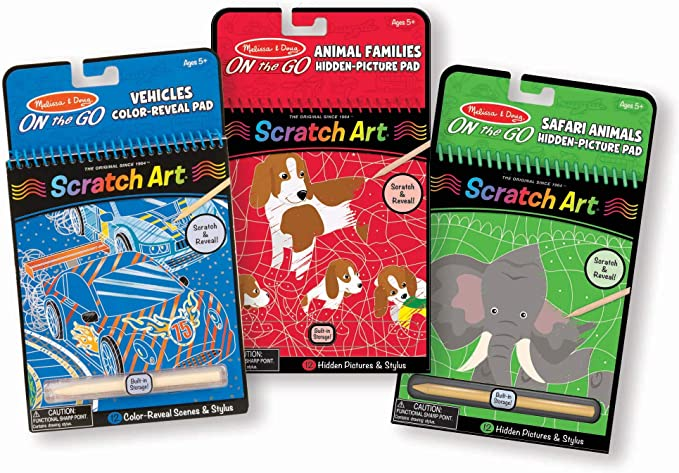 Melissa and Doug 19140 NEW!! On The Go Scratch Art Fairy Tales