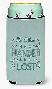 Caroline's Treasures BB5466TBC Not All Who Wander are Lost Tall Boy Beverage Insulator Hugger, Tall Boy, multicolor