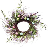 "Easter Egg Floral Twig Wreath - 24"""