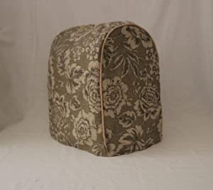 Simple Home Inspirations Burlap Cover Compatible for Kitchenaid Stand Mixer (Lift, Olive Floral)
