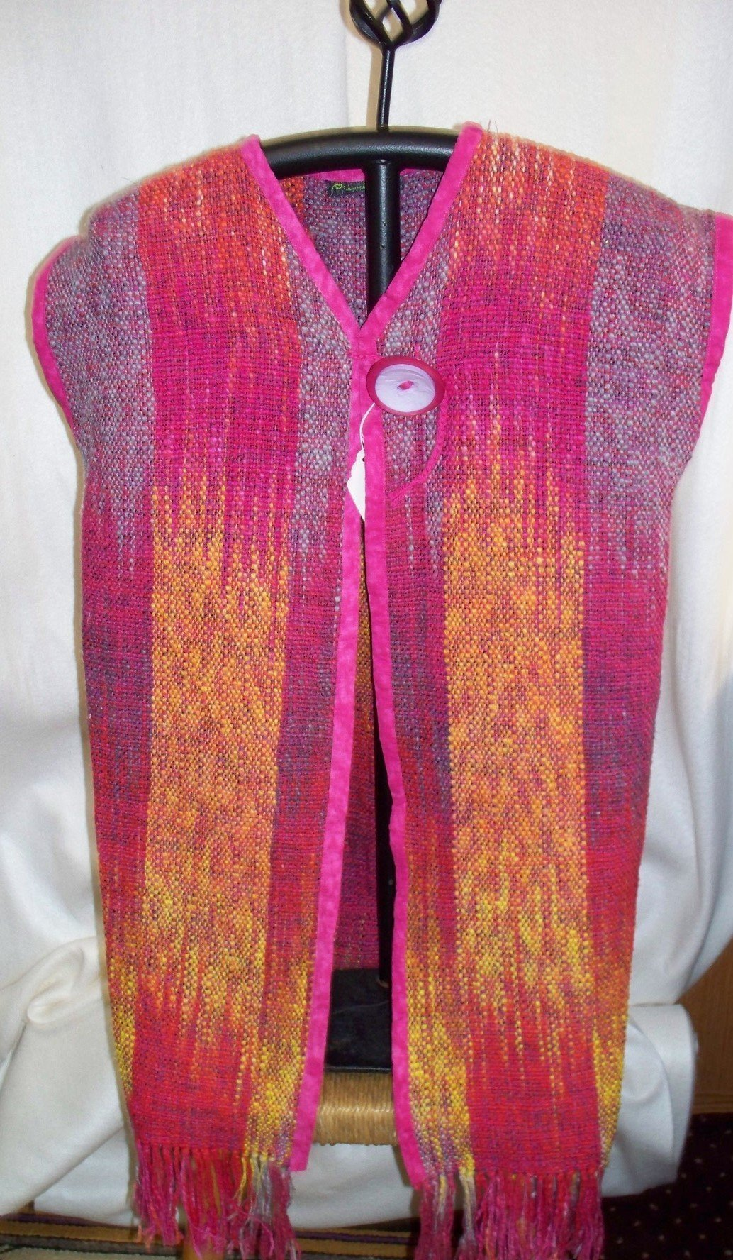 Handwoven Cotton Vest by Michigan WEaver by Phaneuf Pharm Weaving and Yarn