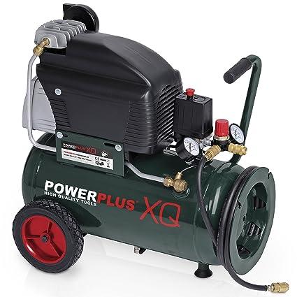 Powerplus - Compresor profesional (10 bar, 2,5 CV, 24 L,