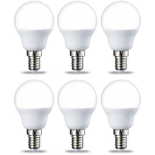 AmazonBasics Bombilla LED E14 P45 5 5W equivalente a 40W Blanco Cálido 6 unidades