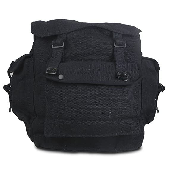 Highlander Large Pocketed Web Army Style Canvas Backpack: Amazon.es: Deportes y aire libre