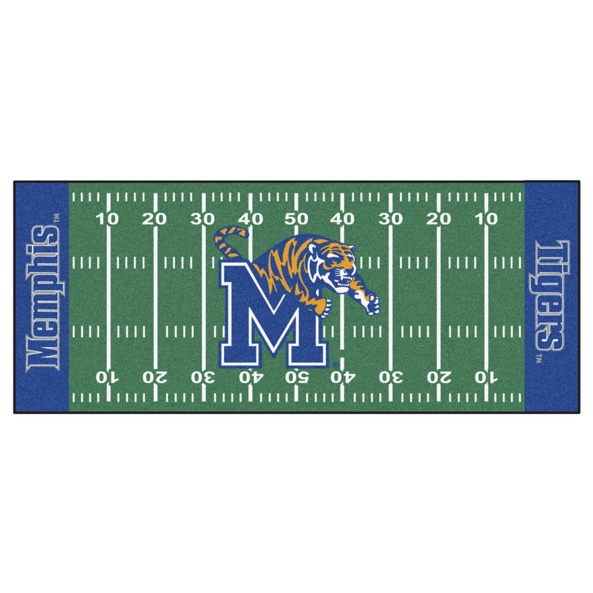 NCAA University of Memphis Tigers Football Field Runner Mat Area Rug