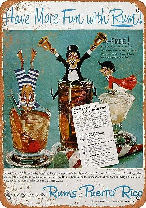 Forry Cocktail Targa in Metallo Cartello in Metallo con Scritta Decorazione Vintage Poster per Bar Caffetteria Box Auto Soggiorno Camera da Letto