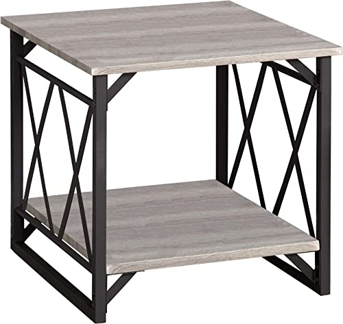 Target Marketing Systems Senecca Modern Contemporary X-Design Living Room End Table
