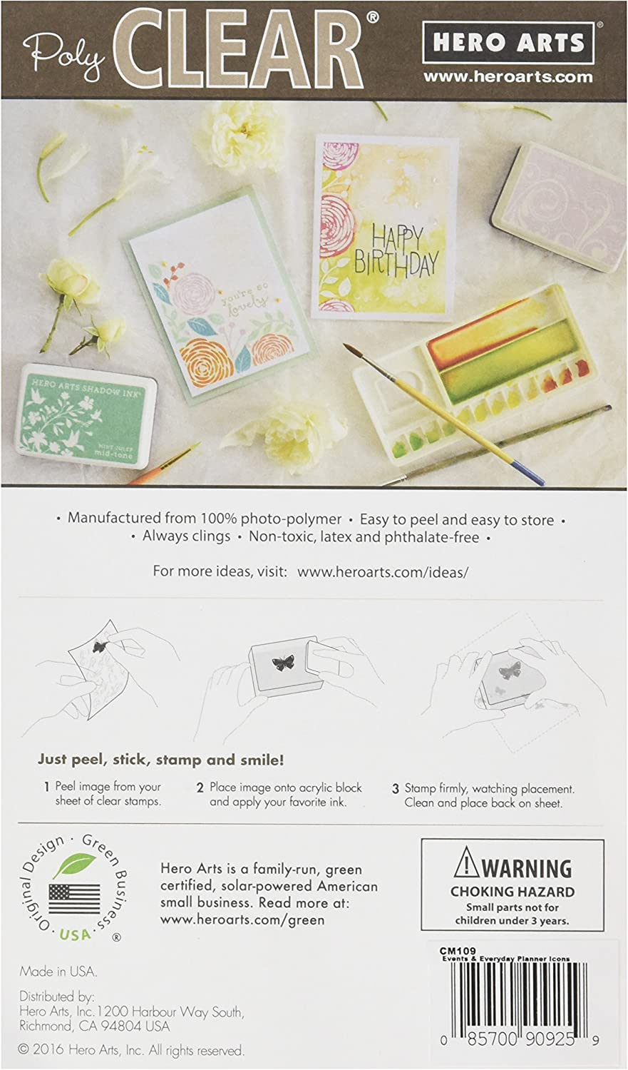 Hero Arts CM110 Clear Stamps Holiday Planner Icons