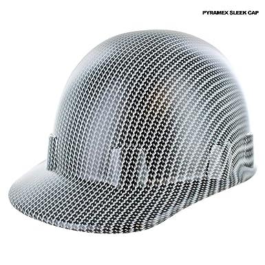 Rugged Blue Pyramex Sleek Cap Custom Hydrographic White Carbon Fiber